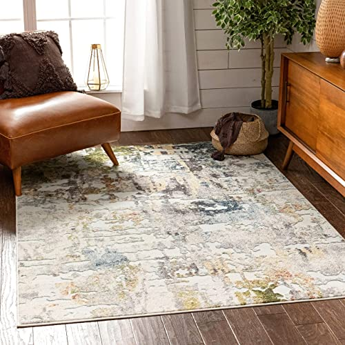 Well Woven Azura Multi Abstract Distressed Pattern Area Rug 9×13 9 3 x 12 6