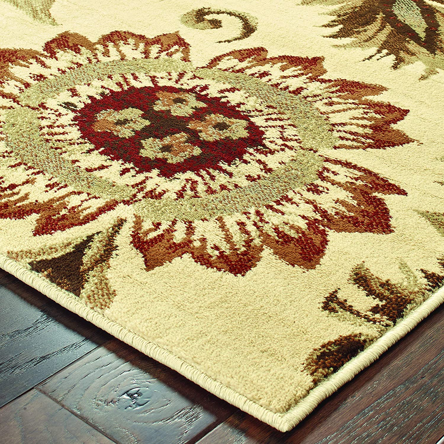 Christopher Knight Home CK-W107 Darlington Floral Indoor Area Rug 7ft 10in X 10ft Beige,Gold