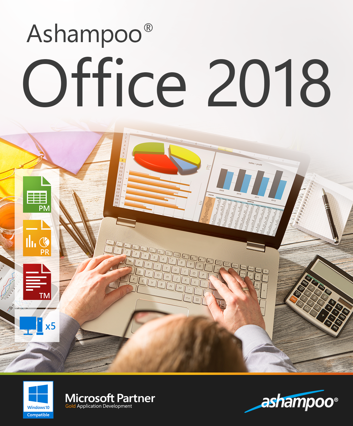 Ashampoo Office 2018 - 5 PC Household License [Download]
