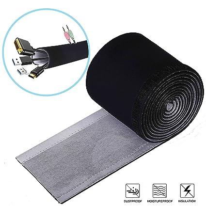 Cables Organizador 3M DIY Funda Organizadores de Cable con Velcro Cubierta para Cables de Neopreno en Material Elastico Gestión Mangas para PC ...