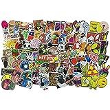 Aufkleber Pack 100 Stickers, für Laptop, Kinder, Autos, Motorrad, Fahrrad, Skateboard Gepäck, Boote, Laptop, Snowboard Gepäck und Glatte Oberfläche (Serie A)