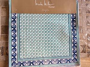 Nicole Miller Aqua & Blue Shells Table Linens ((4) 15