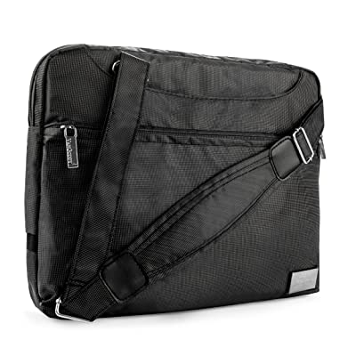 VanGoddy NineO Messenger Bag for LG Gram 13.3 to 14 inch Laptops (Grey)