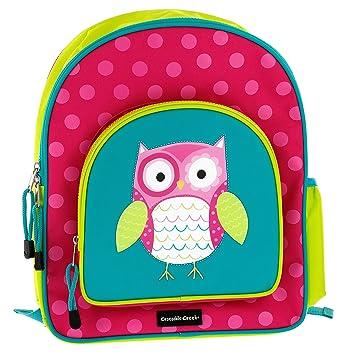 Amazon.com: Crocodile Creek Girls Eco Owl School Backpack, Teal ...