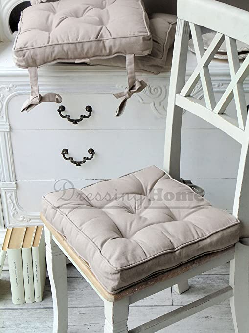 Cuscino Per Sedia Blanc Mariclo Basic Collection Shabby Chic Colore