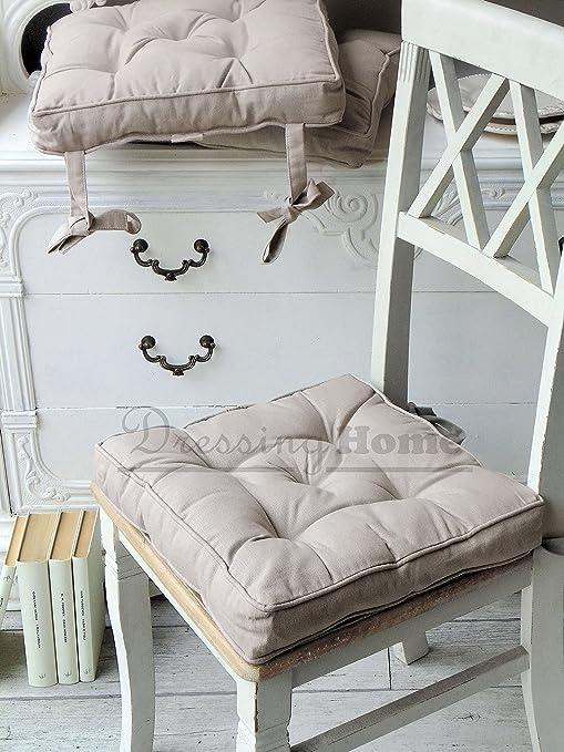Cuscini Per Sedie Shabby.Cuscino Per Sedia Blanc Mariclo Basic Collection Shabby Chic Colore