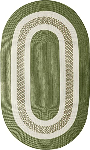 Crescent Oval Area Rug, 12 by 15-Feet, Moss Green