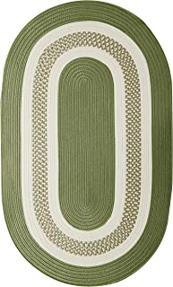 "product image for Crescent Oval Area Rug, 7"" x 9"", Moss Green"