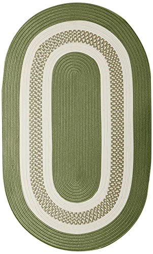 Crescent Oval Area Rug, 5 by 8-Feet, Moss Green