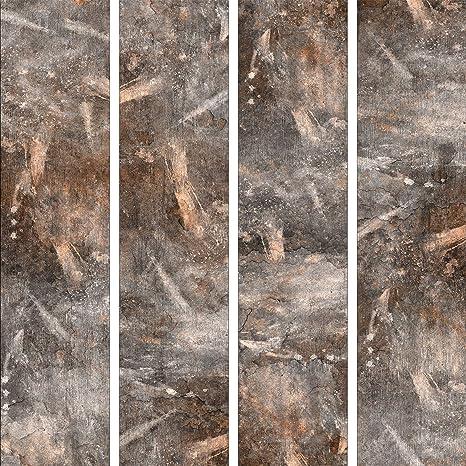 Murando Puro Tapete Realistische Tapete Ohne Rapport Und Versatz 10m Vlies Tapetenrolle Wandtapete Modern Design Fototapete Steine Metal Wand