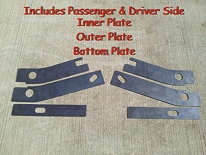 Jeep Wrangler YJ Rear Frame Repair / Rusted Shackle Repair Plates 87 ...
