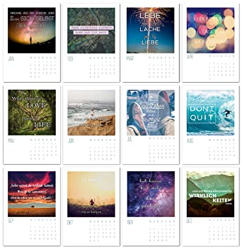Sprüche Kalender 2018 12er Postkarten Set Kalender Sprüche Mit 12 Motivierenden Sprüchen Für Monatlich Neue Inspirationen Ein Monat Pro
