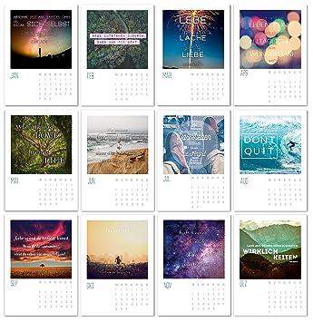 Sprüche   Kalender 2018 / 12er Postkarten Set Kalender