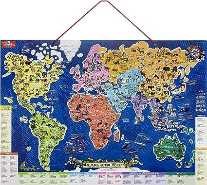 T.S. Shure magnético Animales del Mundo Mapa y Puzzle: Amazon.es: Juguetes y juegos
