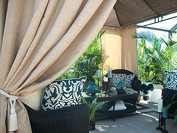 Beautiful Indoor/Outdoor Patio Gazebo Drapes .. Beautiful U0026quot;Tanu0026quot;.