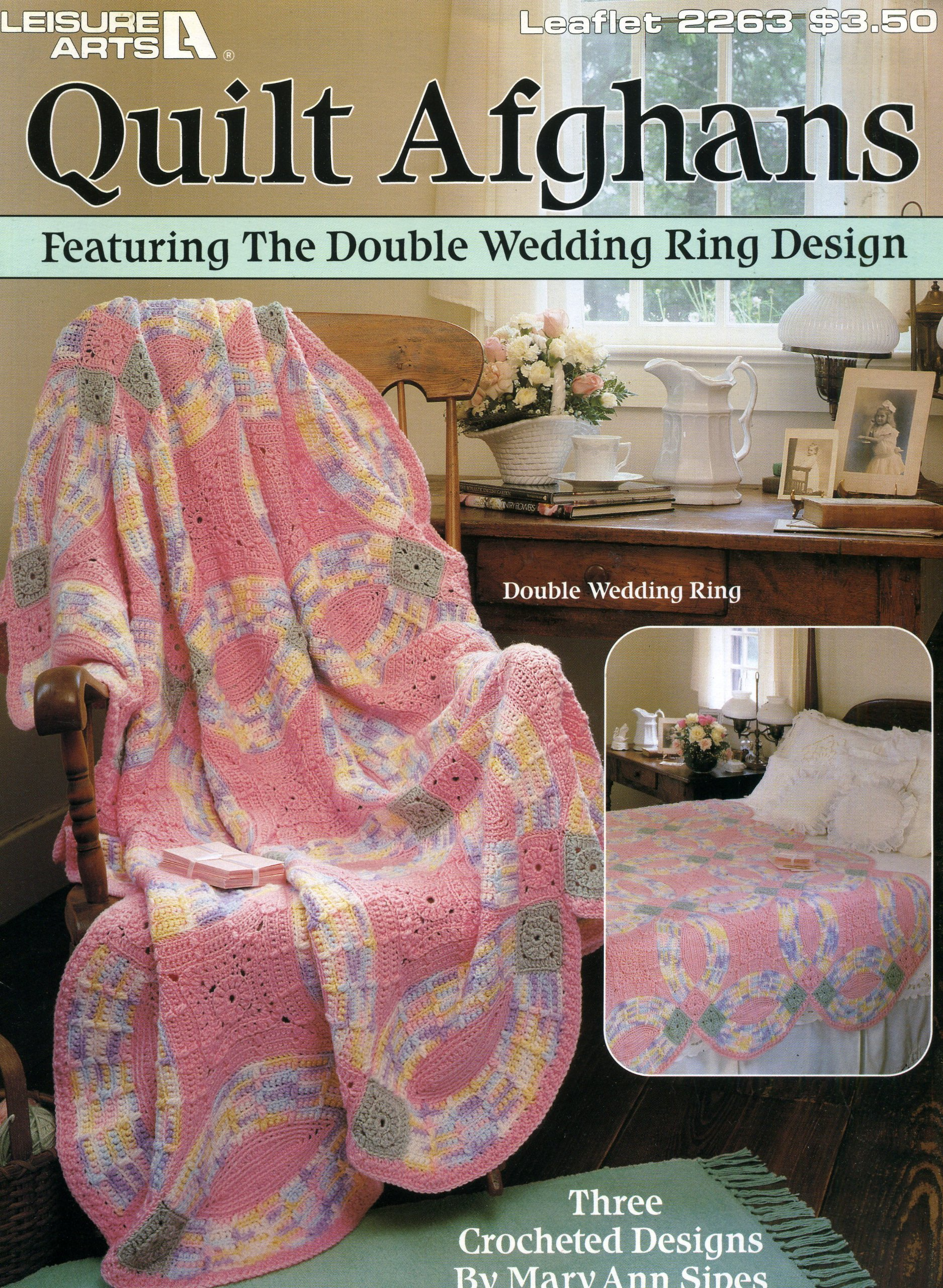 Quilt Afghans Featuring the Double Wedding Ring Design \