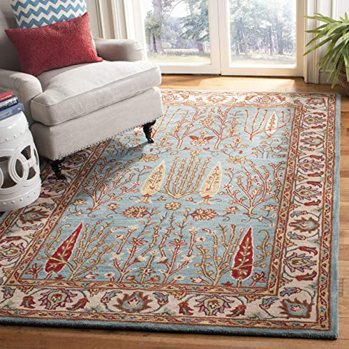 Safavieh Heritage Collection HG735A Handmade Traditional Wool Area Rug, 9 x 12 , Blue Ivory