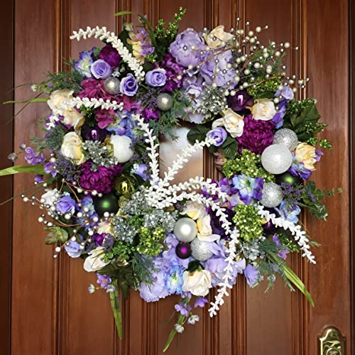 elegant christmas wreath christmas wreath front door holiday wreath designer holiday wreath - Elegant Christmas Wreaths