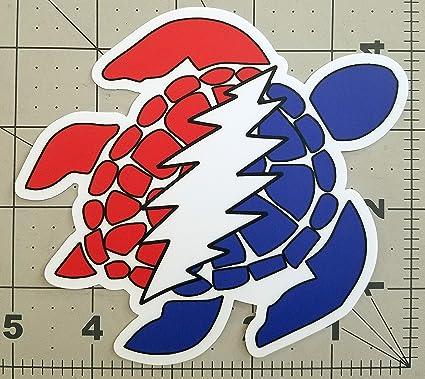 Grateful dead turtle die cut sticker 4 5 x 5 vinyl bolt jerry garcia