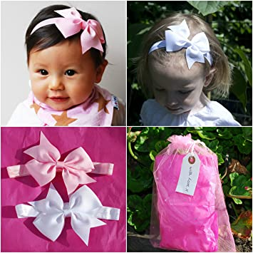 QueenMee Baby Headbands With Bows Baby Hair Bows Baby Headbands and Bows  Baby Headband Bows Baby 2682529ec21