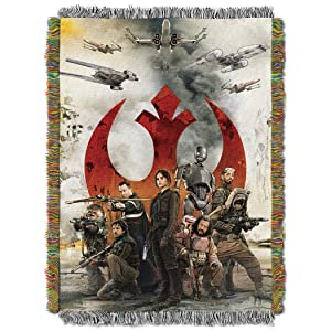 "Disney Star Wars: Rouge One, ""Rouges"" Woven Tapestry Throw Blanket, 48"" x 60"", Multi Color"