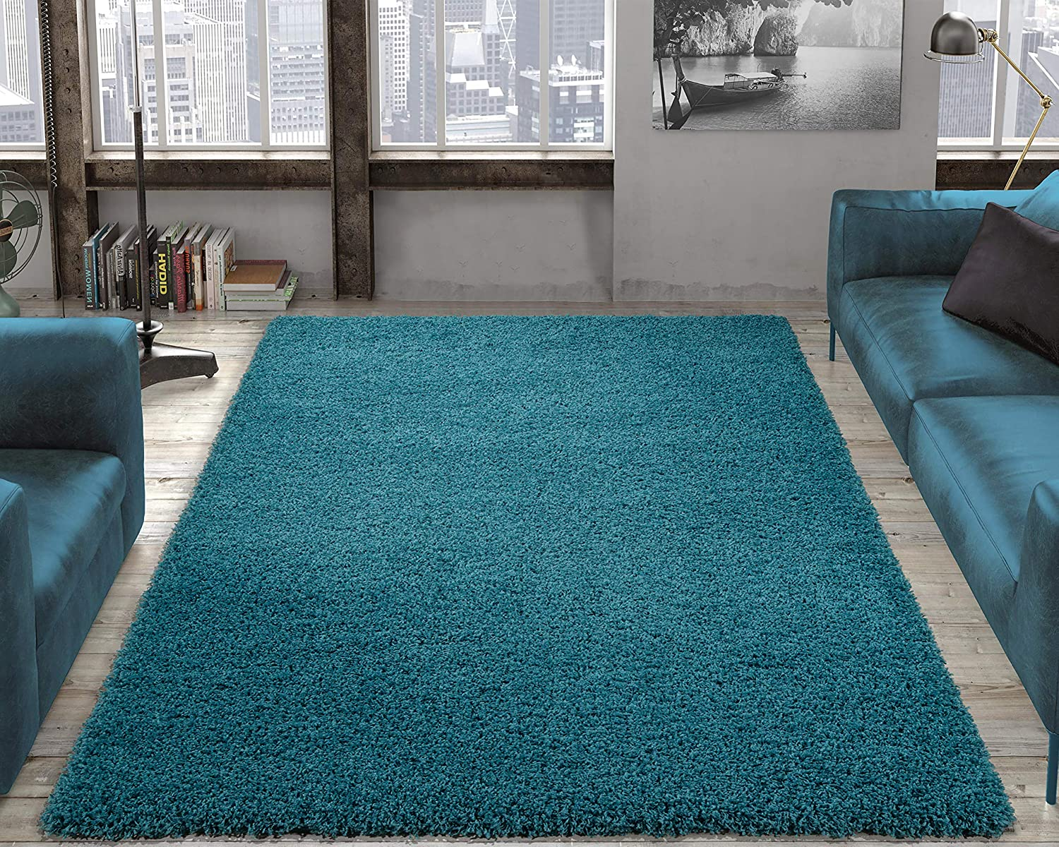 Ottomanson Collection Solid Shag Rug, 7'10