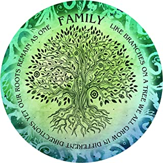 """product image for Next Innovations Motivational Wall Art Family Tree 16"""" Round"""