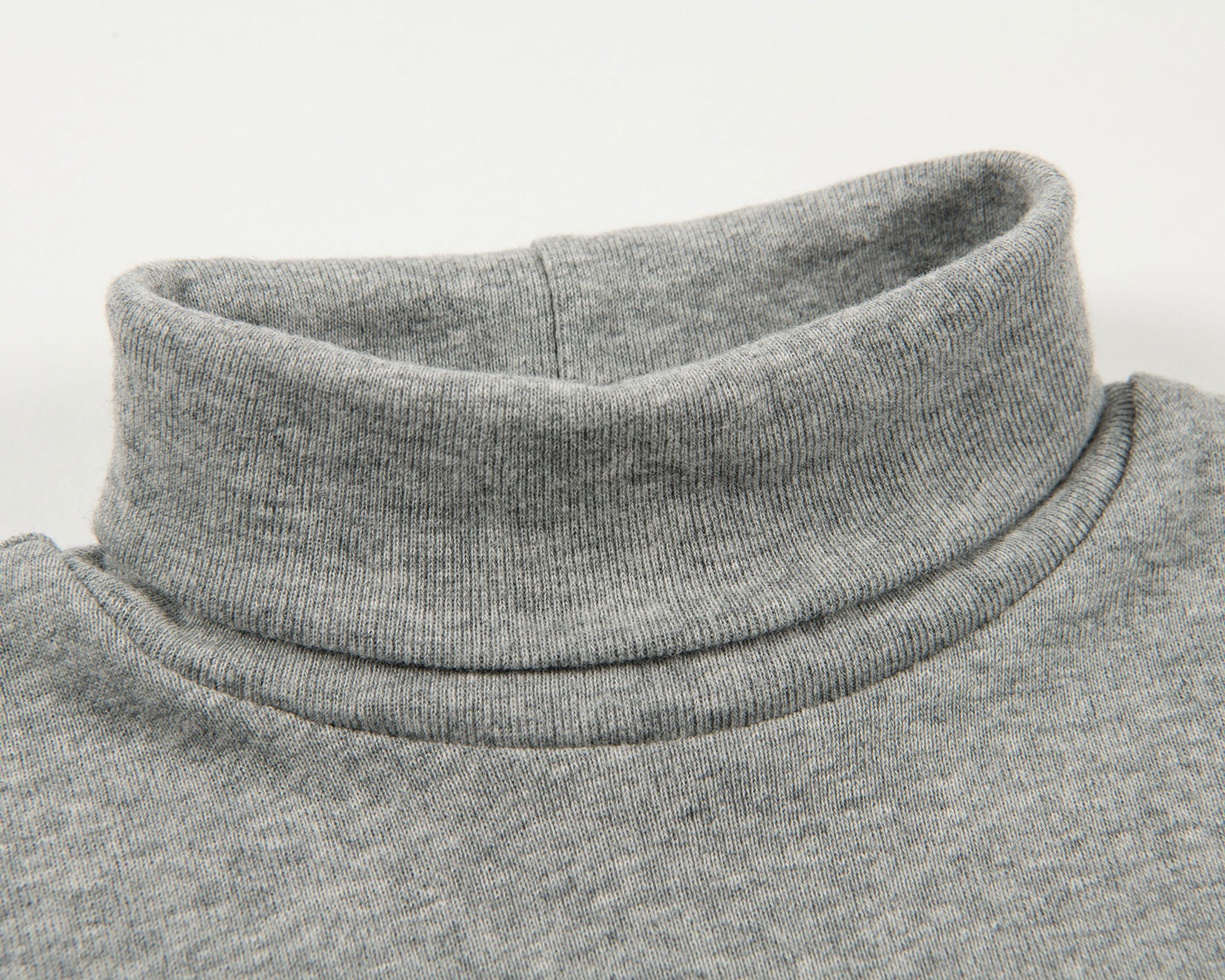 Leveret Solid Turtleneck 100% Cotton (8 Years, Light Grey) by Leveret (Image #5)