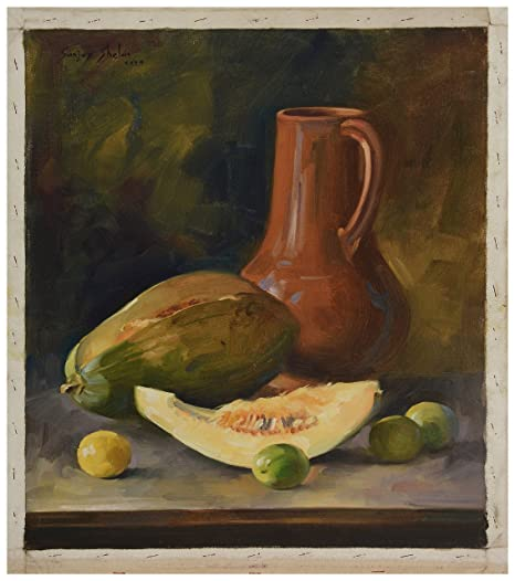 Kolhapur Art Canvas Fruit Painting 44 Cm X 0 1 Cm X 45 Cm