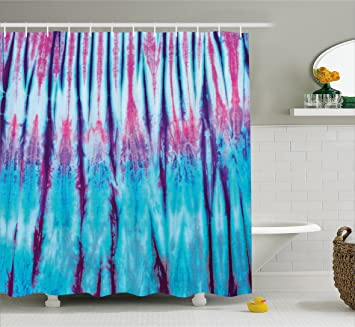 Amazon Ambesonne Ethnic Shower Curtain Close Up Of Vertical Gradient Tie Dye Effect Hippie Alter Life Retro Artwork Print Cloth Fabric Bathroom Decor