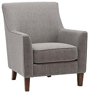 "Stone & Beam Cheyanne Modern Accent Chair, 31""W, Storm"