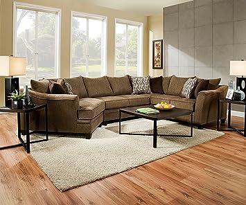 Sensational Amazon Com Global Furniture Usa Albany Truffle Sectional Ibusinesslaw Wood Chair Design Ideas Ibusinesslaworg