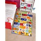 Lord of Rugs Children Kiddy ABC Alphabet Animals Design Multi Coloured Rug in 100 x 160 cm (3'3'' x 5'3'') Carpet