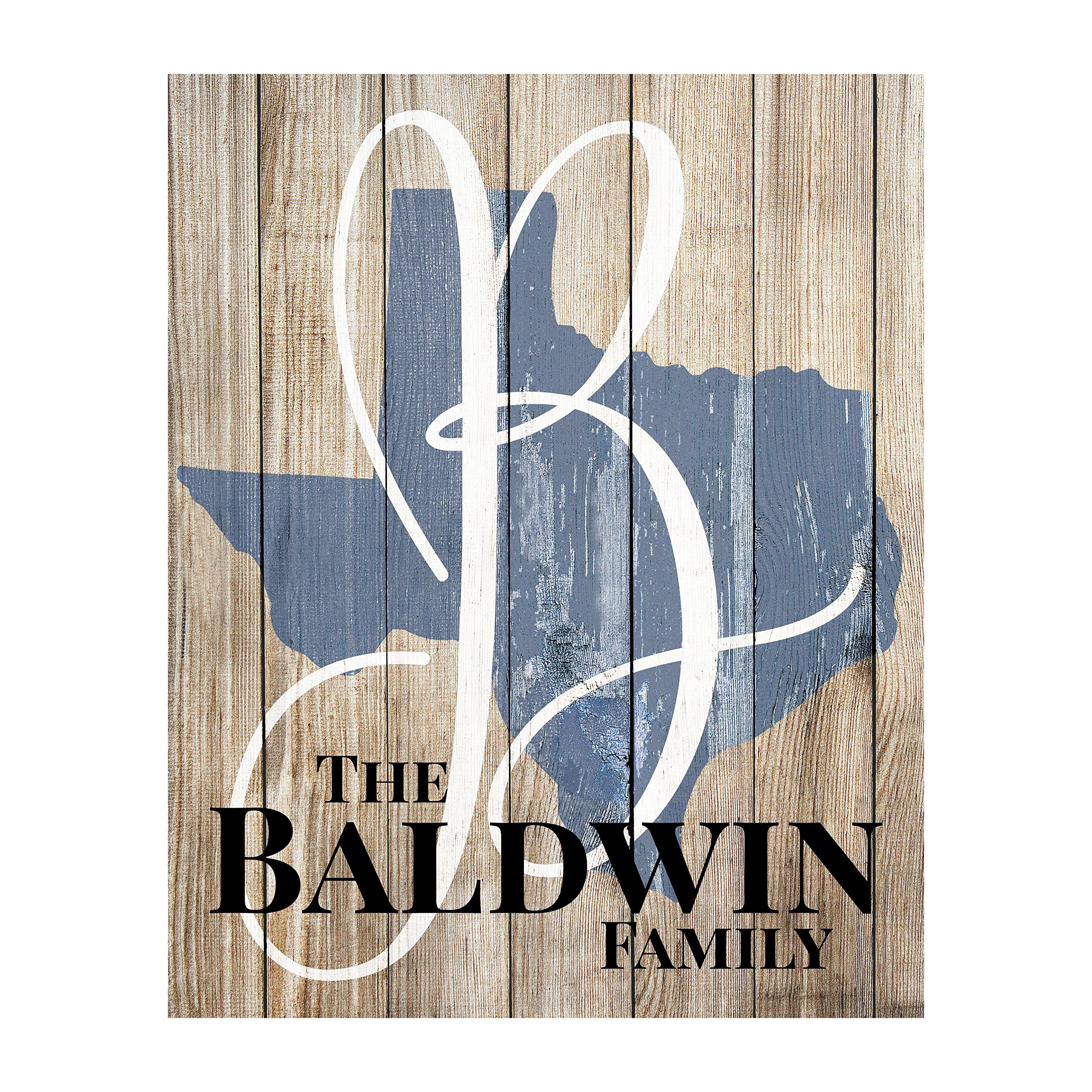 MRC Wood Products Personalized Rustic State Shaped Name Sign by MRC Wood Products