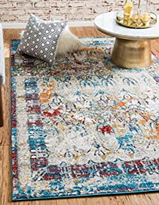 Unique Loom Rosso Collection Vintage Traditional Distressed Multi Area Rug (8' 0 x 10' 0)
