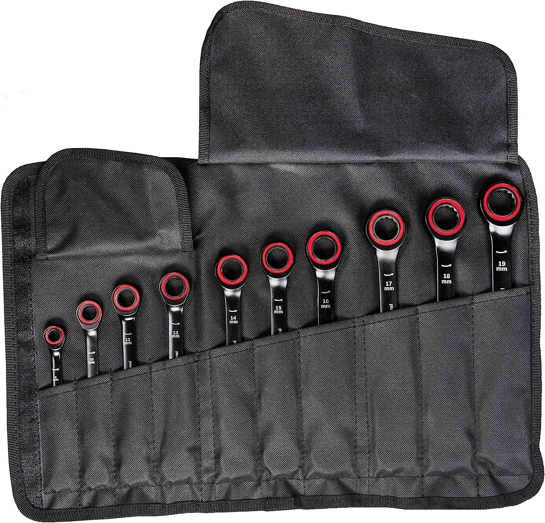 Bosch Professional 1600A016BU Juego Llaves combinadas con función de carraca, Estuche, 10 piezas 8-19 mm: Amazon.es: Bricolaje y herramientas