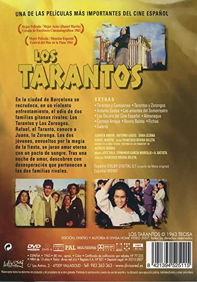 Los tarantos (DVD) 949: Amazon.es: Antonio Gades, Carmen Amaya, Sara Lezana, Daniel Martín, Antonio Prieto, Francisco Rovira Beleta: Cine y Series TV