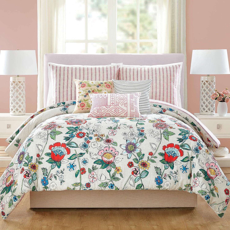 Vera Bradley Coral Floral Comforter, King, Pink