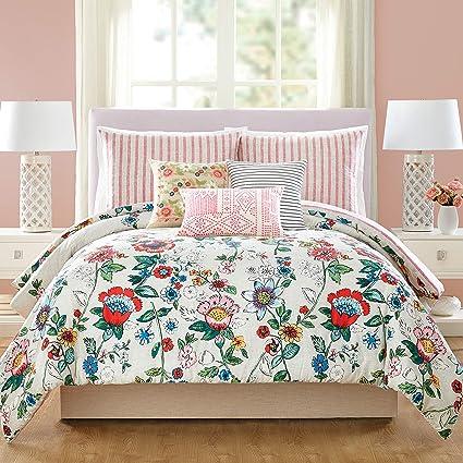 Amazoncom Vera Bradley Coral Floral Comforter King Pink Home