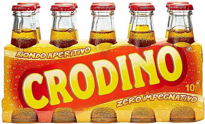 Crodino - rubia aperitivo, 100 ml x 10 botellas