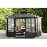 Sunjoy 110107002 Allison Screens House Pavilion