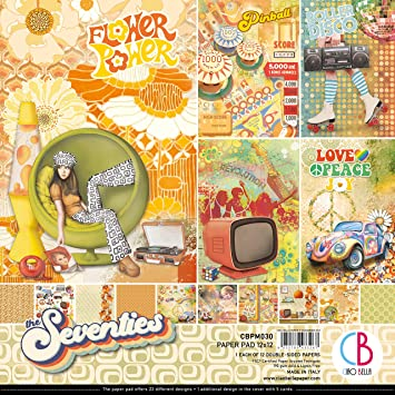 The Seventies 12 Designs//1 Each CIAO BELLA PAPER PAPER PACK 12X12 12PK