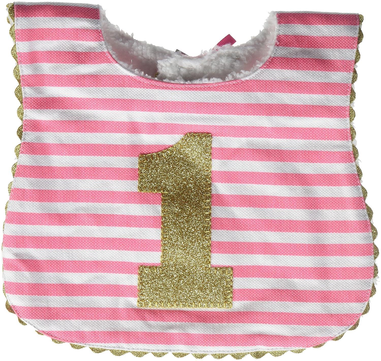 Mud Pie Baby Girl Birthday Bib, Stripe, One Size (1552072)