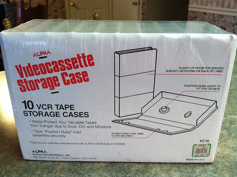 Amazon.com: 10 Pack Clear Plastic Vhs Tape Video Cassette Storage Cases:  Electronics