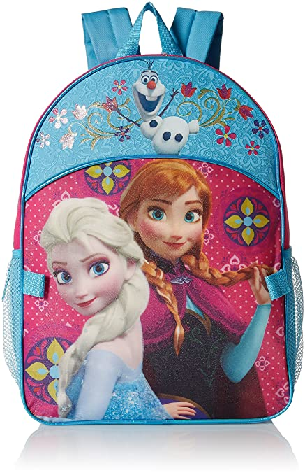 Amazon.com: Disney Girls Frozen Elsa & Anna Backpack with Detachable Lunch Bag, Hot Pink/Blue