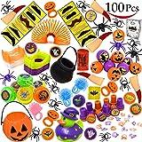 Joyin Toy 100 Pieces Halloween Toys Assortment for Halloween Party Favor, School Classroom Rewards, Trick or Treating, Halloween Miniatures, Halloween Prizes, Halloween Gifts