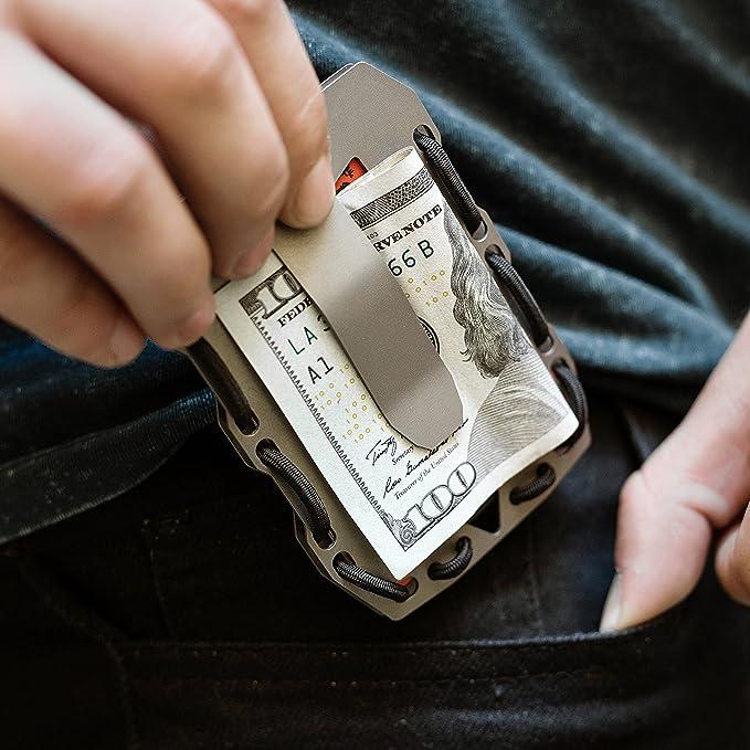 Tactical Titanium EDC Minimalist Slim Wallet