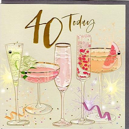 Belly Button Designs BE042 - Tarjeta de felicitación para 40 ...