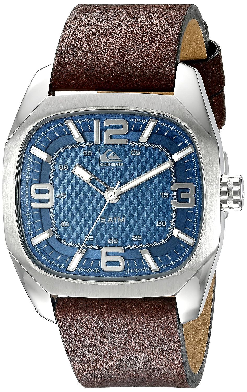 Quiksilver Herren-Armbanduhr The Bruiser Analog Leder Braun QS-1006DBSV