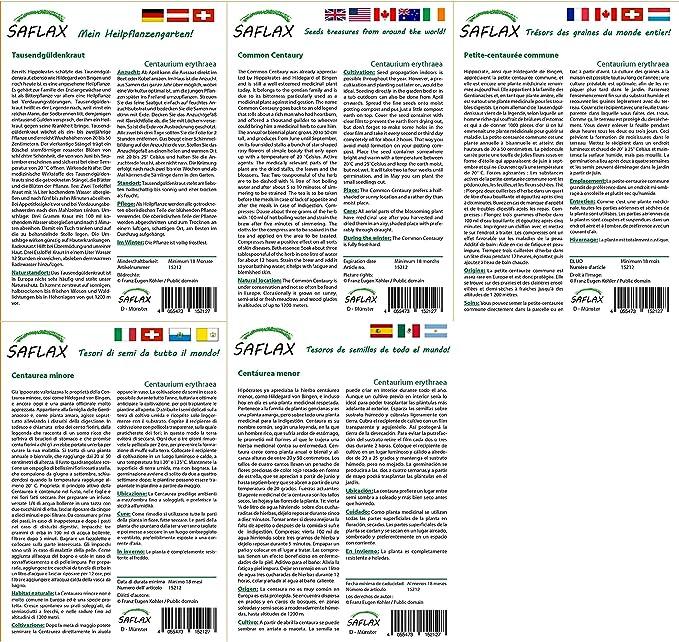 Heilpflanzen Big Garden Mit Gew/ächshaus Anzuchtsubstrat und D/ünger Echte Arnica Arnica montana SAFLAX T/öpfen 40 Samen